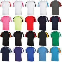 Mens AWDis 100% Polyester Contrast Short Sleeve T Shirt
