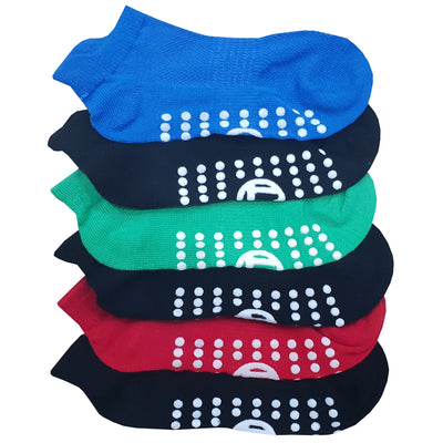 6 x Kids Trainer Grip Socks Gripper Non Skid Slip for Boys