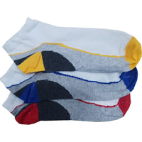 6 x Mens Trainer Design Pattern Cotton Rich Socks White