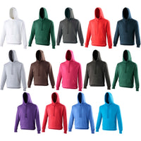 Mens AWDis Heavy Weight Cotton Rich Plain Hoodie Hooded Top with Kangaroo Pocket