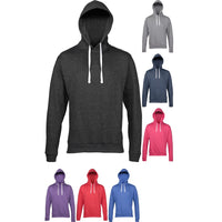 Mens AWDis Light Weight Heather Hoodie Hooded Top with Flat Contract Draw String