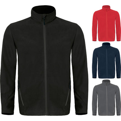 Mens B&C Micro Fibre Coolstar Zip Up Fleece Top