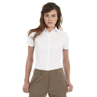 Ladies Women B&C Smart Short Sleeve Work Shirt