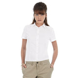 Ladies Women B&C Oxford Short Sleeve Cotton Rich Formal Work Shirt