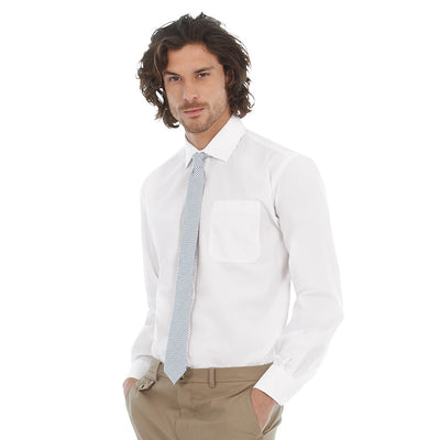 Mens B&C Easy Care Smart Long Sleeve Formal Work Shirt