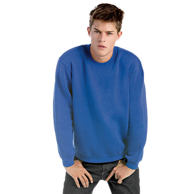 Mens B&C Set In Crew Neck Cotton Rich Plain Sweatshirt