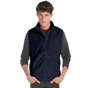 Mens Traveller Polyester Fleece Zip Sleeveless Vest Bomber Waist Coat Jacket