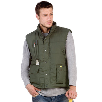 Mens Body Warmer Bomber Explorer Sleeveless Waist Full Zip Jacket Coat Pocket