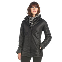Ladies Women Real Water Proof with Quilt Microfibre Padding Padded Warm Coat