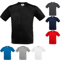 Mens B&C 100% Cotton Exact V Neck Short Sleeve T Shirt Top