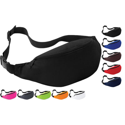 Bag Base Colour Zip Bum Safe Security Money Waist Belt Bag Pack Holiday Travel