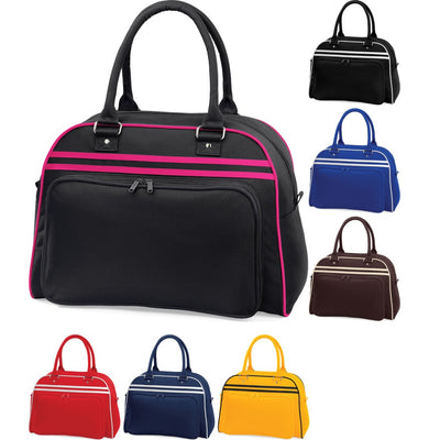 Bag Base Retro Colour Bowling Bowl Bag with Zip