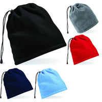 Unisex Adult Men Women Fleece Suprafleece™ Snood Hat Neck Cowl Warmer Combo