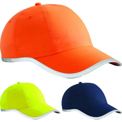 Adult Fluorescent Enhanced High Viz Neon Bright Baseball Cap Hat