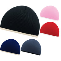 Unisex Adult Beechfield Original Pull On Two Colour Warm Knit Thermal Beanie Hat
