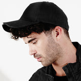 Mens Beechfield 100% Cotton LED Light Lamp Torch Baseball Cap Hat