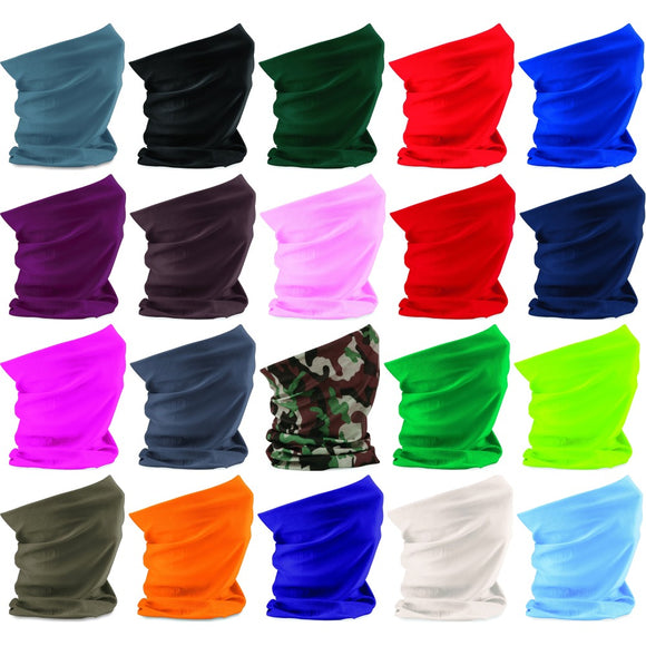 Beechfield Colour Morf™ Original Microfibre Fabric Bandana Hat Scarf Multi Use