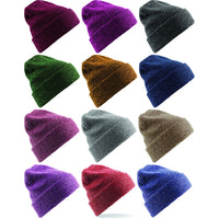 Mens Beechfield Heritage Winter Warm Double Layer Knitted Knit Beanie Hat