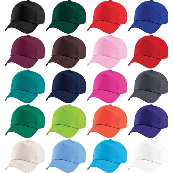 Kid Children Boy Girl 100% Cotton Junior Original 5 Panel Plain Baseball Cap Hat