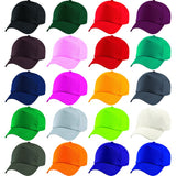 Kid Children Boy Girl Junior 100% Cotton Twill 5 Panel Plain Baseball Cap Hat