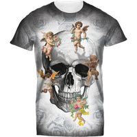 Mens Tshirt Skull and Cupid Design