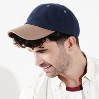 Mens Beechfield Low Profile Heavy Brushed 100% Cotton Baseball Cap Hat