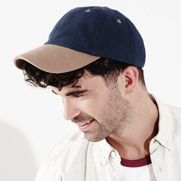 c04e3548457 Mens Beechfield Low Profile Heavy Brushed 100% Cotton Baseball Cap Hat
