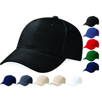 Mens Pro Style Heavy Brushed 100% Cotton Baseball Cap Hat