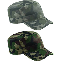 Mens Beechfiled 100% Cotton Camo Camouflage Army Design Cap Hat