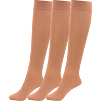 3 x Ladies / Women 80 Denier Knee High Trouser Pop Socks