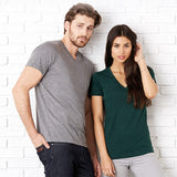 Unisex Men Women Bella Canvas Polyester Rich Tri-Blend V Neck T Shirt Top