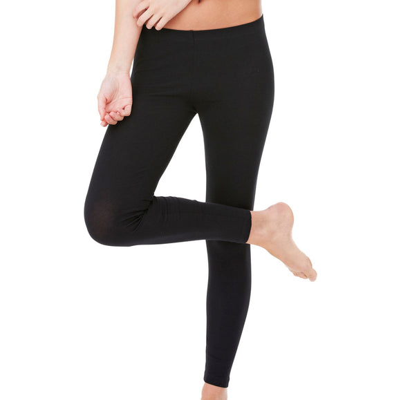 Ladies Women Bella Canvas Tunnel Elastic Waist Cotton Rich Spandex Tight Legging