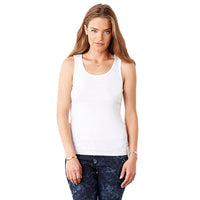 Ladies Women Bella Canvas 2x1 100% Cotton Rib Tank Top Sleeveless Vest