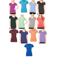Ladies Women Bella Canvas Tri-Blend Crew Neck T Shirt Short Sleeve Top