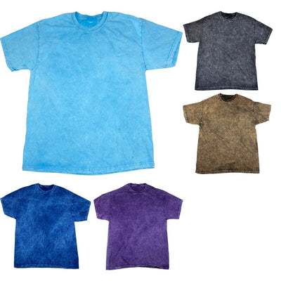 Mens Colortone Mineral Wash Heavy Weight 100% Cotton Short Sleeve T Shirt Top