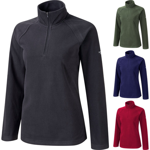 Ladies Women Craghopper Basecamp Microfleece Polyester Half Zip Micro Fleece Top