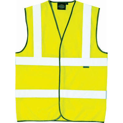 Mens Dickies Hi Visibility Vis Viz Waterproof Safety Waist Coat