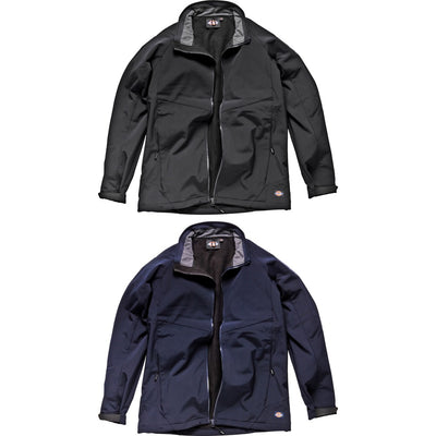 Mens Dickies All Weather Water Resisitant Softshell Micro Fleece Jacket Coat