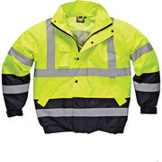 Mens Dickies Hi Visibility Viz Vis Two Tone Pilot Waterproof Jacket Coat