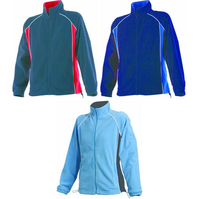 Ladies Women Finden Hales Piped Micro Fleece Full Zip Long Raglan Sleeve Jacket