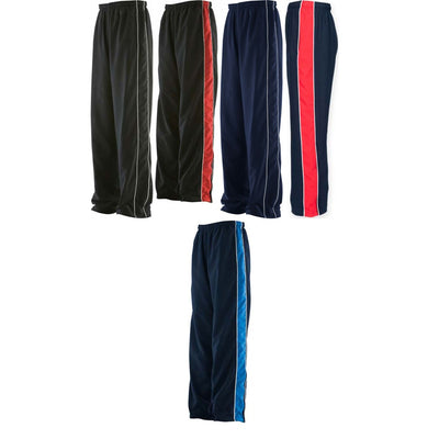 Mens Finden Hales Microfibre Sport Gym Piped Track Suit Pant Bottom Trouser