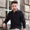 Mens Front Row Super Soft Plain 100% Cotton Long Sleeve Rugby Collar Neck Shirt
