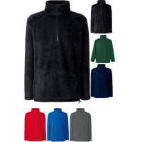 Mens Fruit of the Loom Half Zip Polyester Fleece Top