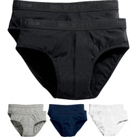 2 x Mens Classic Sport High Cut Leg Cotton Rich Briefs Slips Hipster