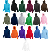 Mens Fruit of the Loom Classic Cotton Rich Hoodie Hooded Sweat Jacket Top