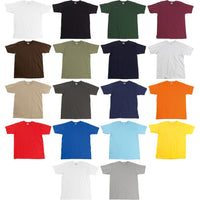 Mens Fruit of the Loom Super Premium Short Sleeve 100% Cotton Plain T Shirt Top