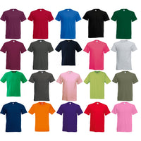 Mens Fruit of the Loom Screen Stars Original Full Cut Cotton Plain T Shirt Top