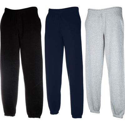 Mens Fruit of Loom Premium Polyester Elasticated Jog Jogging Sweat Pants Bottoms