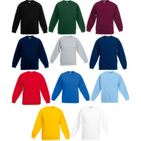 Kid Children Boy Girl Fruit of the Loom Premium Polyester Set In Sweatshirt Top