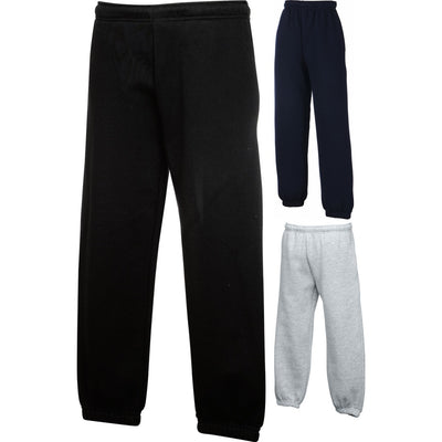 Kid Children Fruit of the Loom Premium Polyester Jog Jogging Sweat Pants Bottoms
